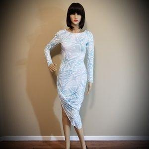 GUESS Blue Snake Dress